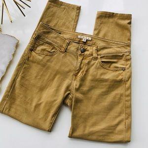 Cabi Womens Sz 2 Gold Ruby Skinny Jeans